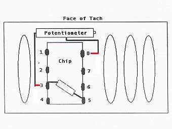 V8 tachometer conversion b